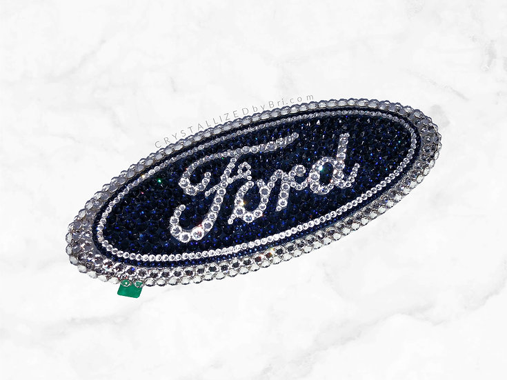 CRYSTALL!ZED Ford Emblem - Oval