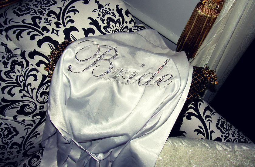 "CRYSTALLIZED ""Bride"" Robe"