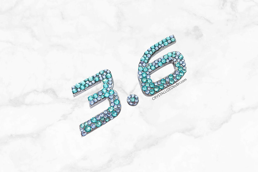 CRYSTALLIZED 3D Letters | Numbers | Period