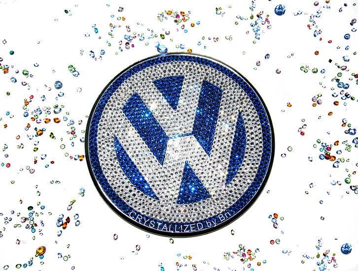 "CRYSTALL!ZED Volkswagen Beetle Emblem - 4.5"""