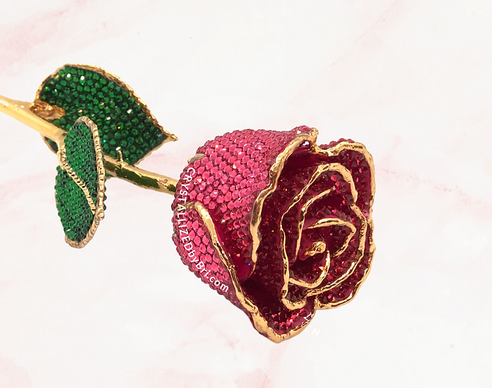Pink CRYSTALLIZED Preserved Rose