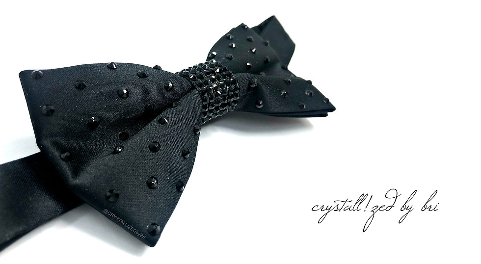 CRYSTALL!ZED Bow Tie - Partial Bling