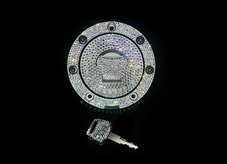 CRYSTALLIZED Locking Fuel Gas Tank Cover