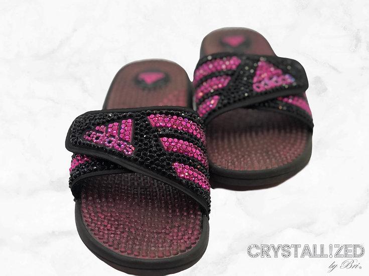 CRYSTALL!ZED Adidas Slides