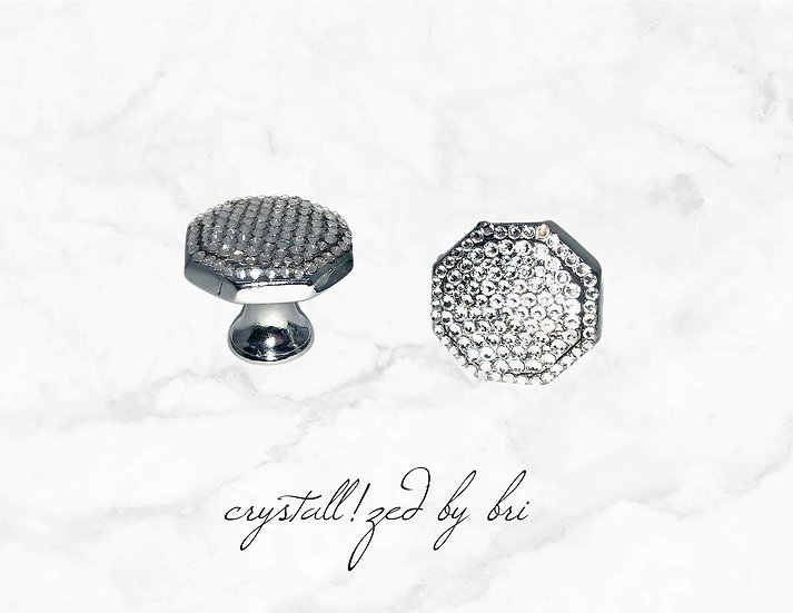 CRYSTALL!ZED Cabinet Knobs - Pair