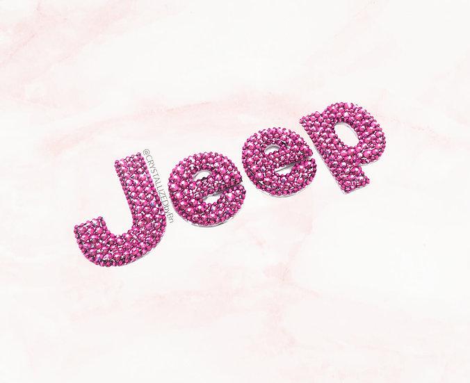 Pink SWAROVSKI Jeep Emblems