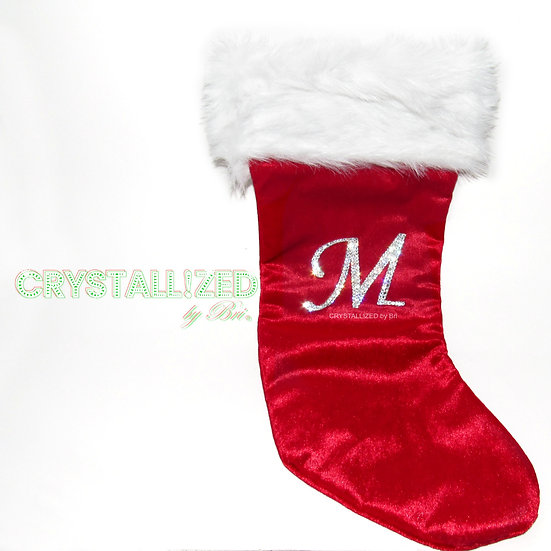 CRYSTALL!ZED Christmas Stocking - Choose Your Initial