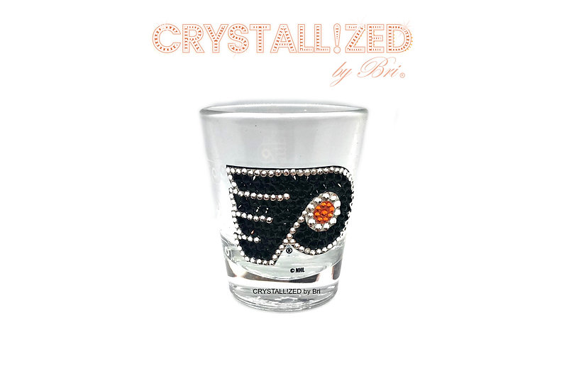 CRYSTALLIZED Shot Glass - Philadelphia Flyers