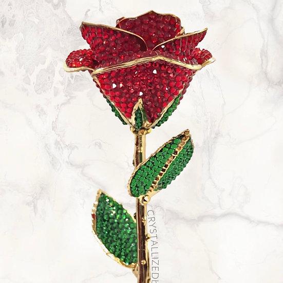 CRYSTALL!ZED24k Gold Dipped Rose