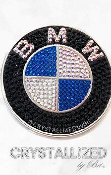 "CRYSTALL!ZED BMW Emblem - 3 1/4"""