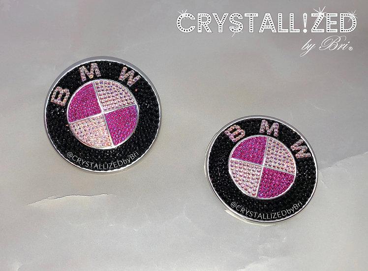 "Pink CRYSTALL!ZED BMW Emblem - 3 1/4"""