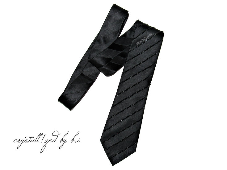 CRYSTALL!ZED Men's Tie - Stripe