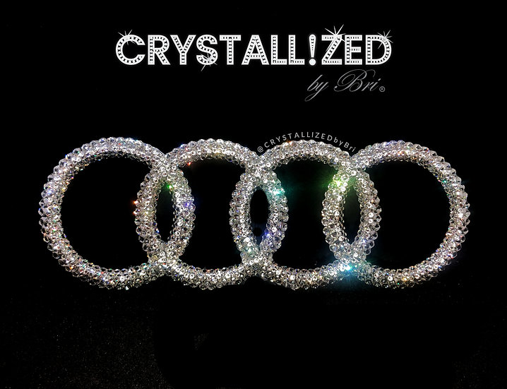 """CRYSTALL!ZED Audi Emblem - 7.5"""""""