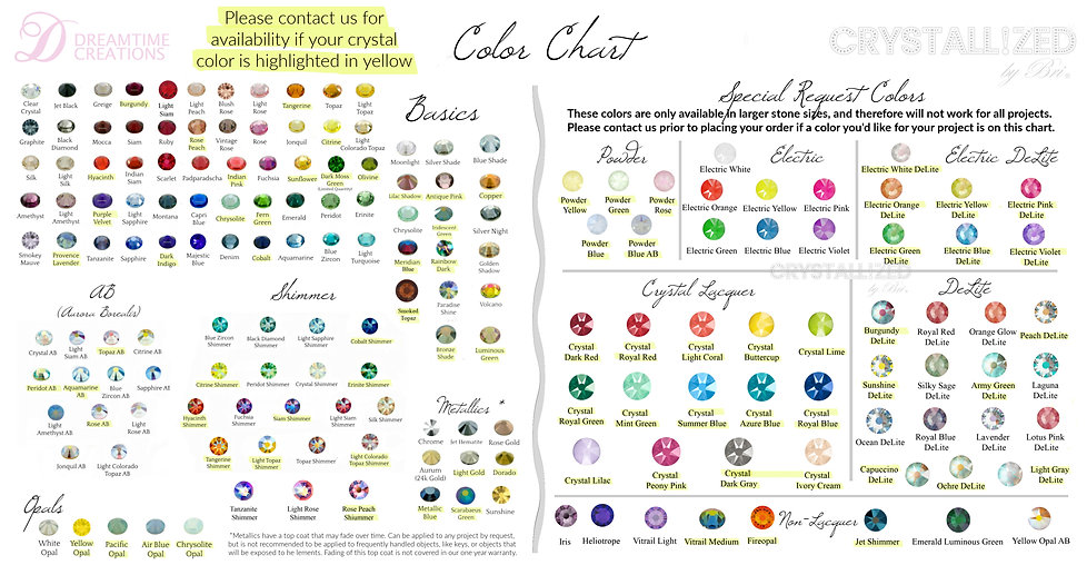 crystal color chart bling