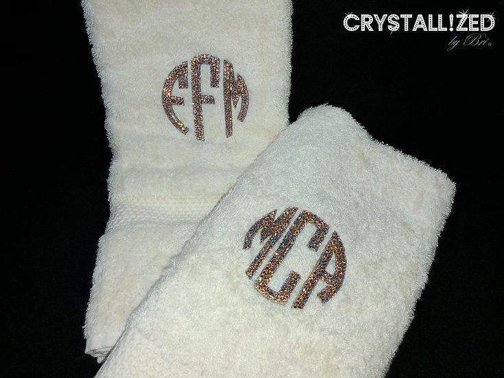 CRYSTALL!ZED Decorative Towels
