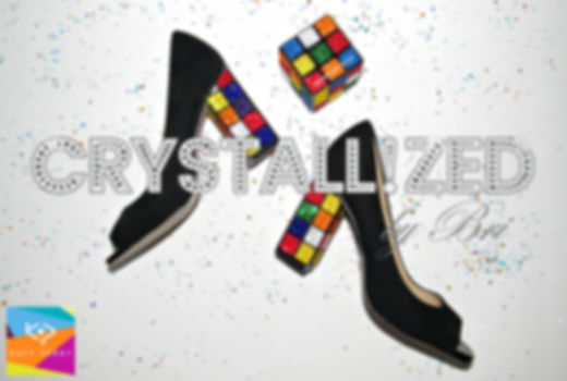 katy perry the caitlin rubik's cube rubix heels crystallized by bri strass swarovski bling heels