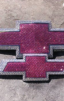 Pink CRYSTALLIZED Chevy Emblem - Any Size