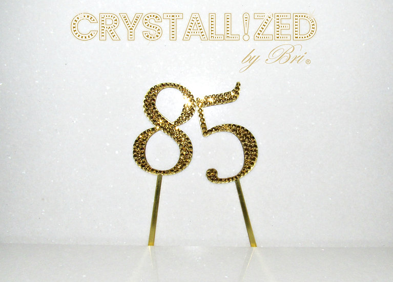Gold CRYSTALL!ZED Cake Numbers - 2.5""