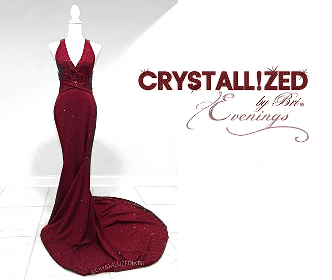 CRYSTALLIZED Evening Gown