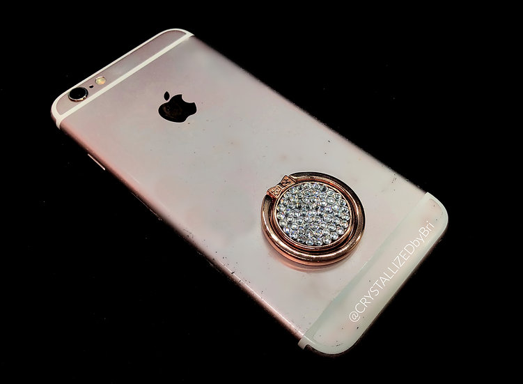 CRYSTALLIZED Phone Ring Grip - Rose Gold