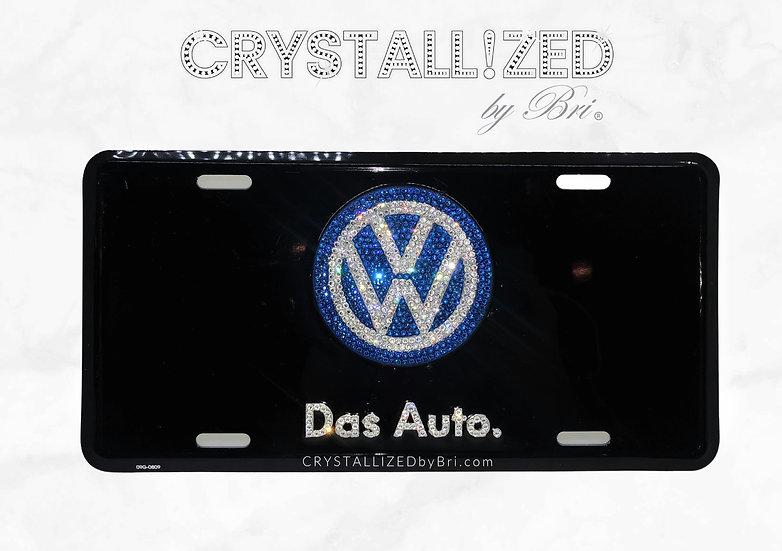 CRYSTALL!ZED Volkswagen Vanity Plate - Das Auto