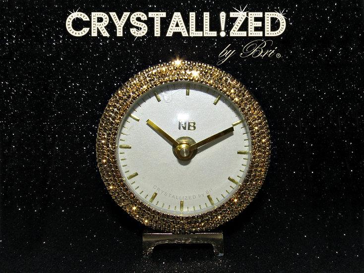 CRYSTALL!ZED Gold Desk Clock