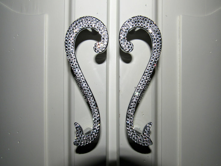 CRYSTALL!ZED Scroll Cabinet Pulls - Set of 2