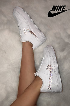 CRYSTALL!ZED White Nike's - Air Force 1