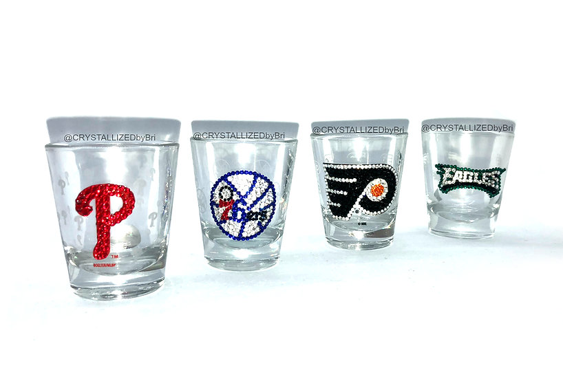 CRYSTALLIZED Shot Glass - Choose Your Team!