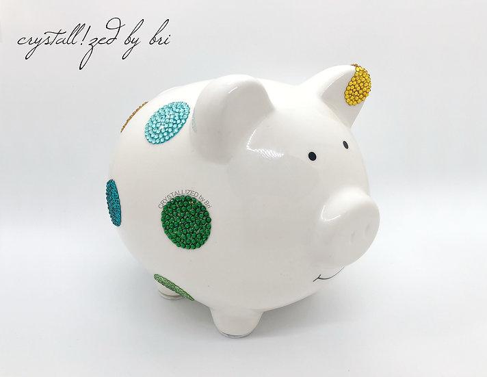 CRYSTALL!ZED Polka Dot Piggy Bank