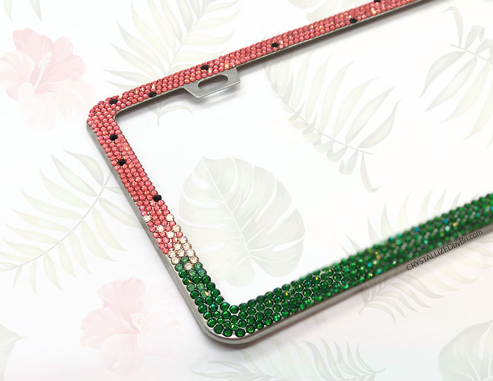 CRYSTALL!ZED License Plate Frame - Watermelon