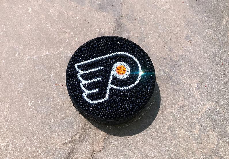 CRYSTALLIZED Hockey Puck - Full Size - Any Team!