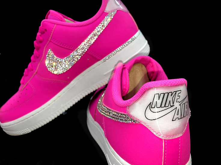 CRYSTALL!ZED Pink Nike Air Force 1