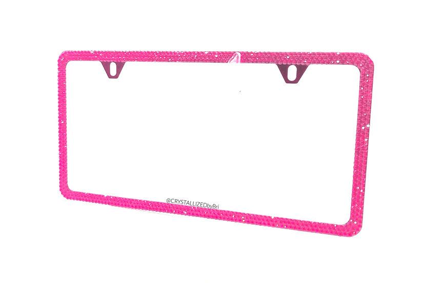 Pink CRYSTALL!ZED License Plate Frame