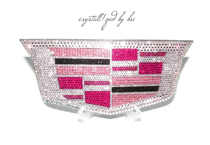 Pink CRYSTALL!ZED Cadillac Emblem