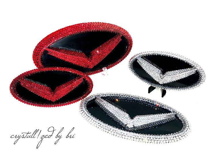 "CRYSTALL!ZED Hyundai Veloster Emblem - 7""x3.5"""