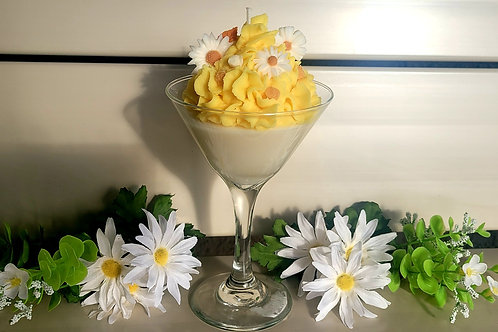Sunflower martini theme candles