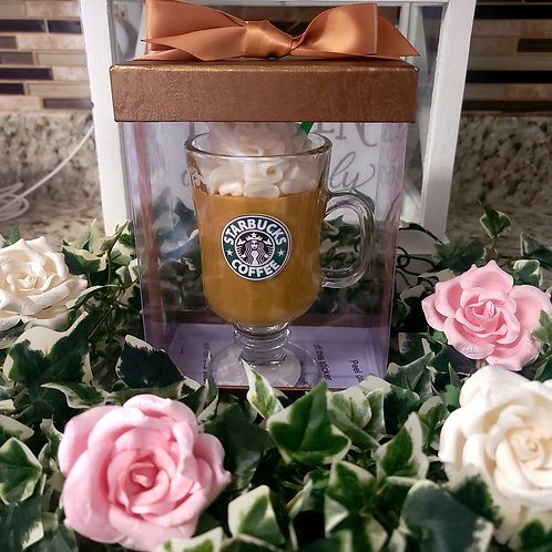 Starbucks theme scented soy wax candle giftbox set