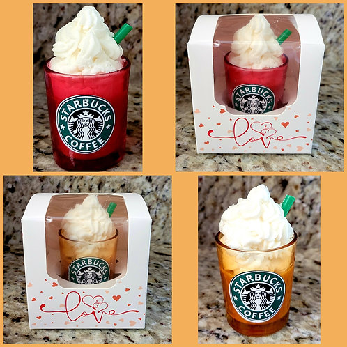 Mini starbucks theme scented soy wax candles