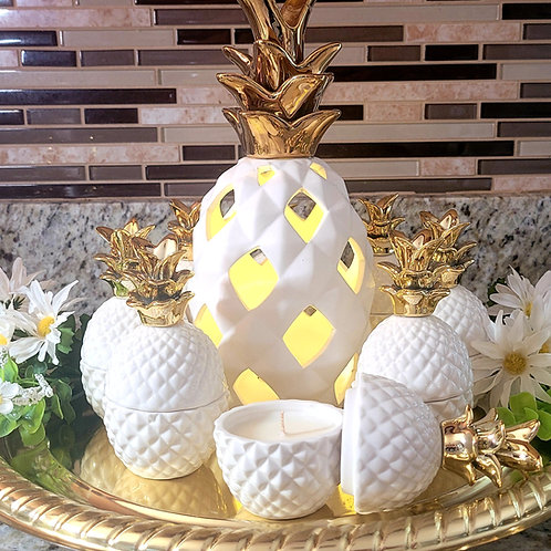 Pineapple lamp/candle set