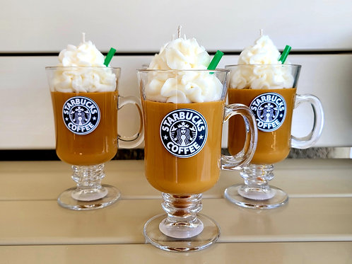 Starbucks theme scented soy wax candles