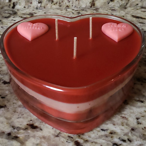 Valentine theme candles
