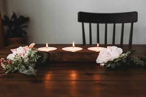 Elegant wooden candle