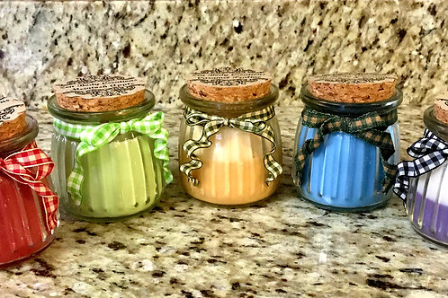 Farmhouse theme scented soy wax candles