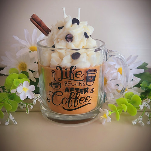 Cafe themed candles
