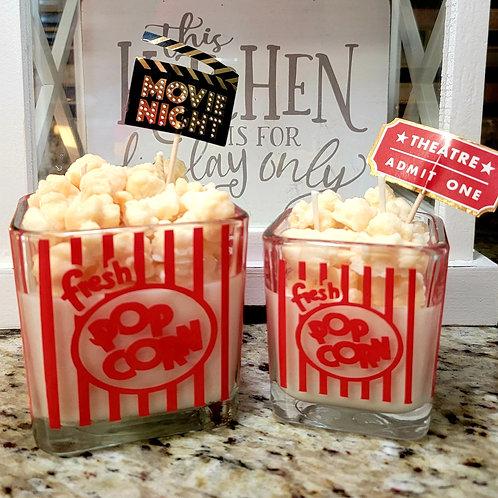 Popcorn theme candle 10 oz