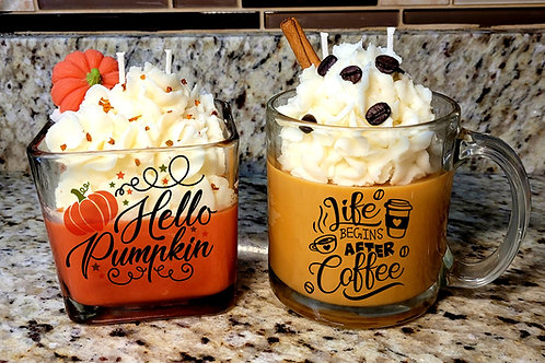Themed scented soy wax candles