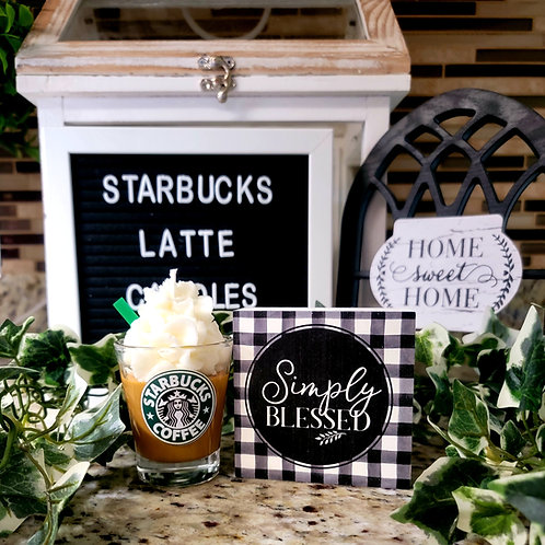 Starbucks theme scented soy wax candle giftbox mini