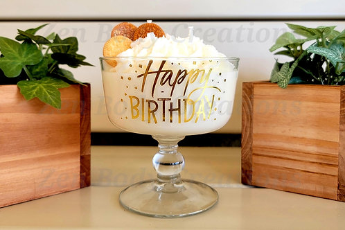 Birthday theme candle