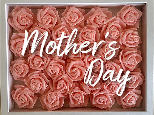 Personalized Mother's Day floral shadowbox Frame